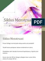 Menstuasi siklus