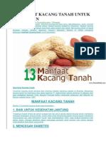 13 Khasiat Kacang Tanah Untuk Kesehatan