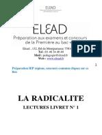 ELEAD-CONCOURS-COMMUN-IEP-REGIONS-LIVRET-N°1-LA-RADICALITE