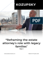 Roy Kozupsky - Reframing the Estate Attorney's Role with Legacy Families  - Part I