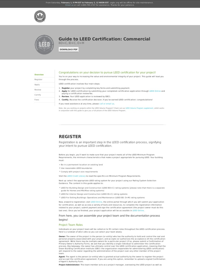 Guide To Leed Certification Leadership In Energy And Environmental