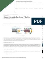 Carbon Monoxide Gas Sensor Principle Instrumentation Tools