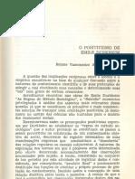 O Positivismo Em Émile Durkheim