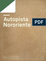 1 Memoria 2015 Acceso Nororiente a Stgo (Autopista Nororiente)