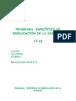 P.E. DISLEXIA Victoria 17 18 Copia
