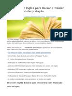 35 Textos Em Inglês Para Baixar e Treinar a Tradução e Interpretação