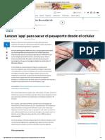 Lanzan App Para Sacar El Pasaporte Desde El Celular en El Valle
