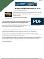 Scientsit Find Oldest Human-fossil