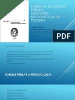Minicurso - Metodologia de Pesquisa