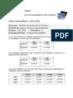 Examen Contrôle TFI Mastère Finance Juin 2016