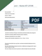 Fiber Laser Specifikacije