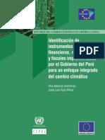 Instrumentos Económicos Financieros Regulatorios y Fiscales Cambio Climático Perú