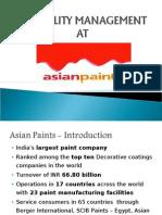 Reliability Management at Asian Paints_Team 3