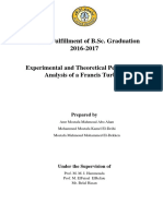 Experimenta and Theoretical Performance Analysis of a Francis Turbine