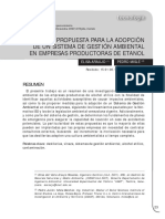 Sistema Ambiental Produccion Etanol
