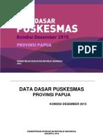 Data Dasar Puskesmas Papua 2015