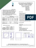 Sistema Bobina Móvel - Medição de Corrente e Tensão Contínua