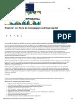 Posición Del Foro de Convergencia Empresarial – ACDE