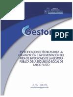 Especificaciones Técnicas(TDR) Inversiones