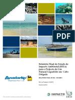 Estudos de Impactos Ambientais Na Estracao de Gas Natural Na Bacia de Rovuma ,Cabo Delgado2014_Port