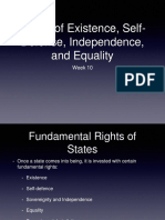 Week 10 - Rights of Existence, Self-Defense, Independence, And Equality
