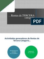Rentas de Tercera categoria - Peru - UTEA CUSCO