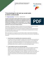 7 Verschuivingen-De Toekomst Van Social Media en Interne Communicatie