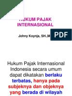 Hukum Pajak Internasional
