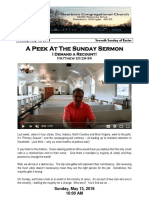 Pastor Bill Kren's Newsletter - May 13, 2018