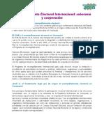 Cooperación | El Poder Electoral y Plan de Acompañamiento Internacional