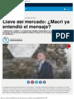 Clave Del Mercado ¿Macri Ya Entendió El Mensaje