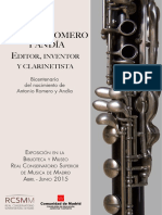Antonio Romero y Andía. Editor, Inventor y Clarinetista. Bicentenario Del Nacimiento de a. Romero y Andía
