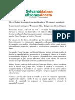 09/05/2018 Ofrece Maloro Acosta encabezar gestión a favor del comercio organizado