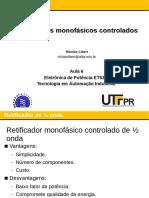 Aula 06 - Retificadores Monofasicos Controlados