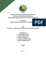 Factores y Condiciones Que Influyen en La Imagen Marca
