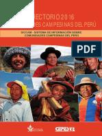 Directorio de Comunidades Campesinas Del Peru 2016