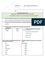 lesson plan template - plants