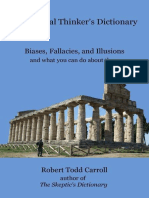 The Critical Thinker's Dictionary_ Biases, Fallacies, and Illusions and What You Can Do About Them - Robert Carroll.epub