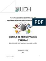 Administración Pública  Modulo 2017
