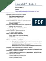 Guía Para El Capítulo XVI- Lectio II