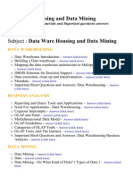 Data Ware Housing and Data Mining - Lecture Notes, Study Materials and Important questions answers