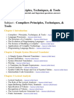 Compilers Principles, Techniques, & Tools - Lecture Notes, Study Materials and Important questions answers