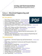 Electrical Engineering and Instrumentation - Lecture Notes, Study Materials and Important questions answers