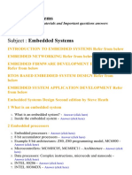 Embedded Systems - Lecture Notes, Study Materials and Important questions answers