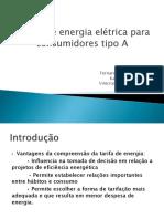 Tarifa de energia elétrica