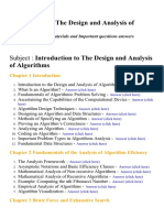 Introduction to the Design and Analysis of Algorithms - Lecture Notes, Study Materials and Important questions answers