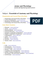 Essentials of Anatomy and Physiology - Lecture Notes, Study Materials and Important questions answers