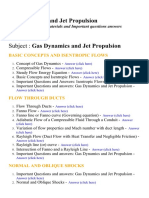 Gas Dynamics and Jet Propulsion - Lecture Notes, Study Materials and Important questions answers