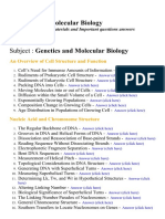 Genetics and Molecular Biology - Lecture Notes, Study Materials and Important questions answers