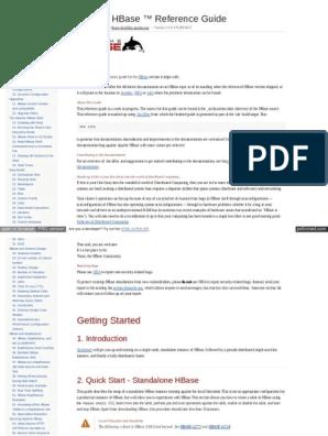 Hbase Apache Org Book HTML | Apache Hadoop | Command Line